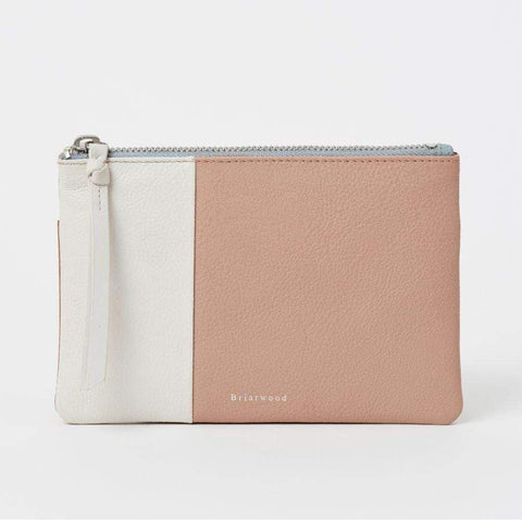 Multi Briarwood Leather Purse - Pearl