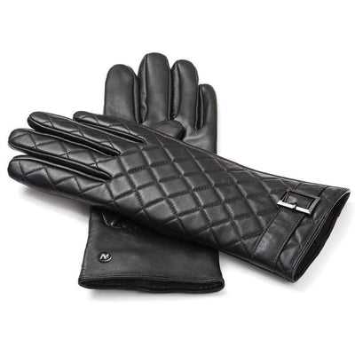 Napo Leather Womens Gloves | Elegant | Black