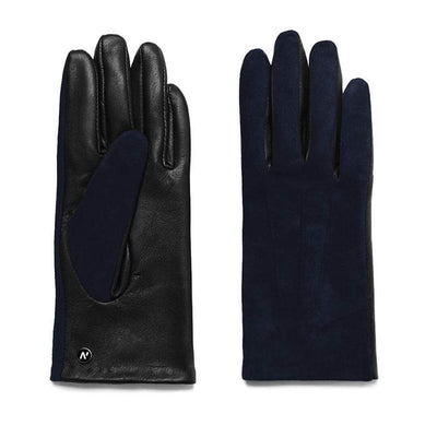 Napo Leather Womens Gloves | Rose | Navy