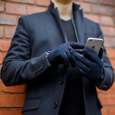 Napo Wool  Mens Gloves | Navy