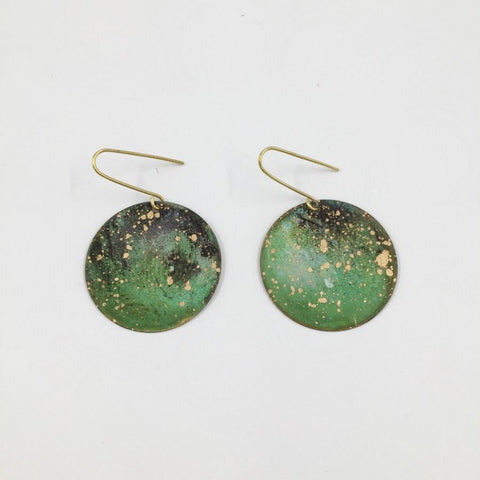 Nature Earring Small Forest/Brass