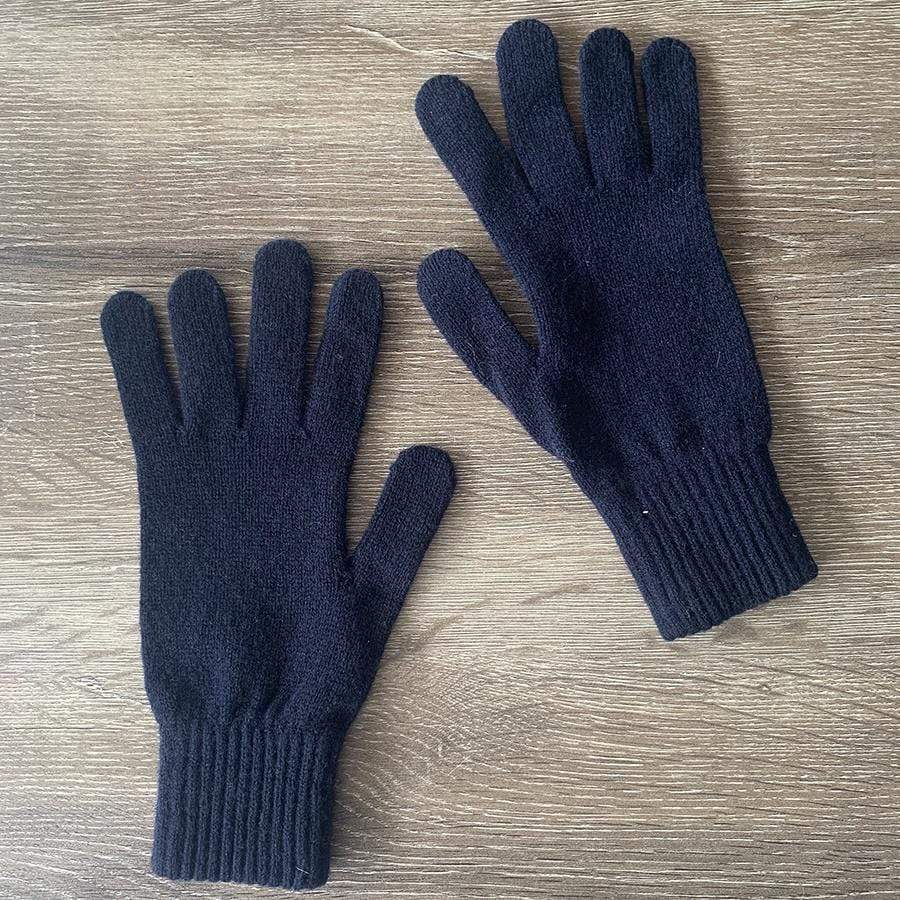 Navy Lambswool Skye Gloves | Navy