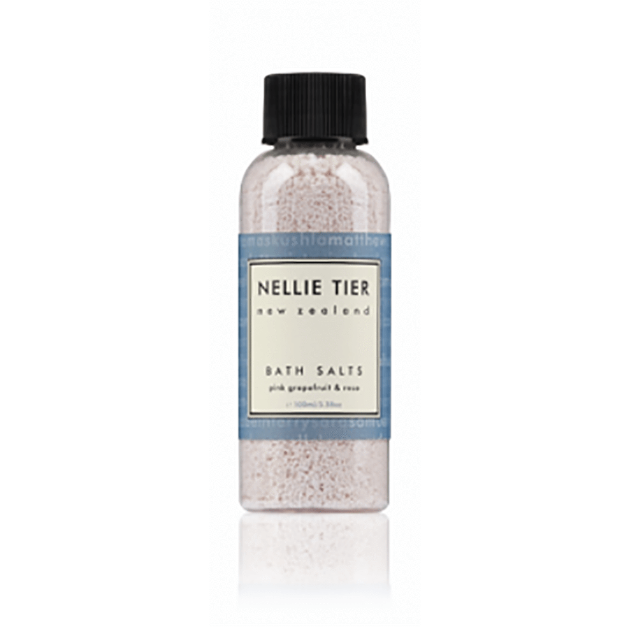 Nellie Tier Bath Salts Pink Grapefruit & Rose Travel 100ml