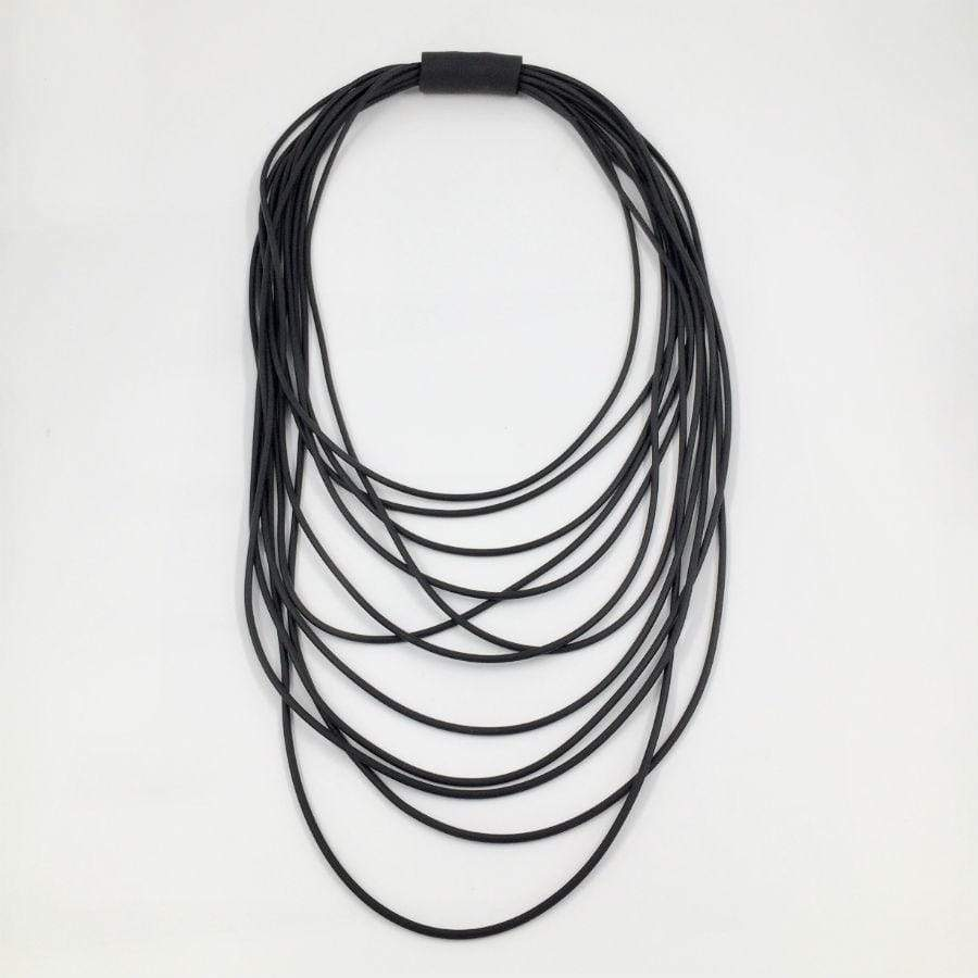 Neo Long Multi Necklace | Black