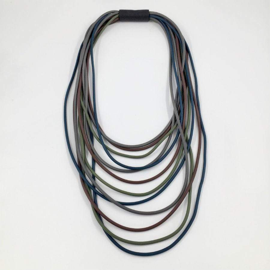 Neo Long Multi Necklace | Dark Mix