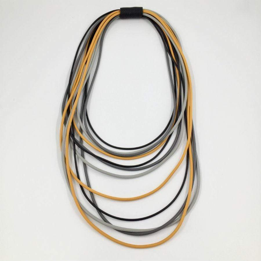 Neo Long Multi Necklace | Ochre Mix