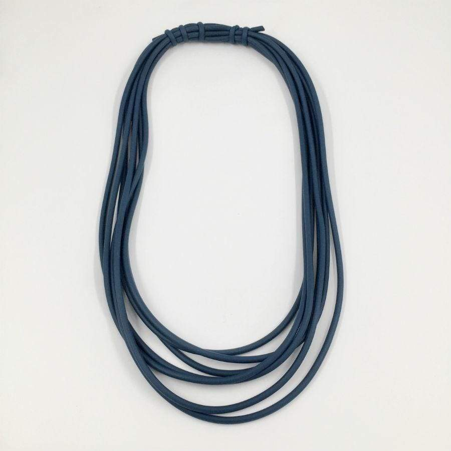 Neo Short Multistrand Necklace | Petrol