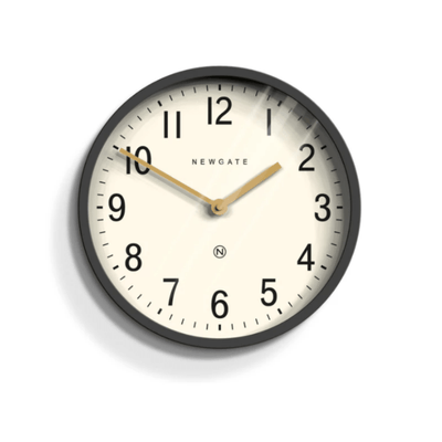 Newgate Clock Black Grey 30cm