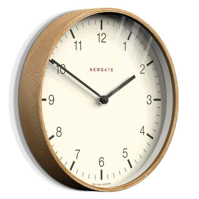 Newgate Pale wood Numbered Clock