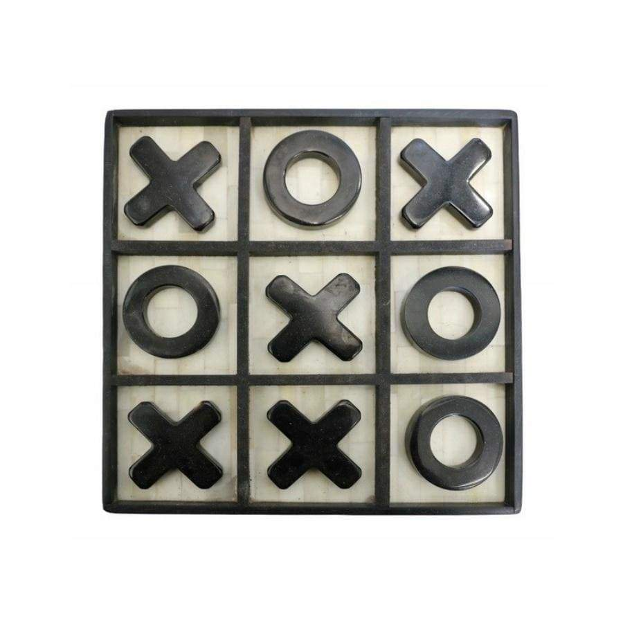 Noughts and Crosses Set Bone