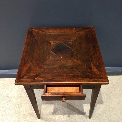 Oak Parquetry Table - French Antique c1870