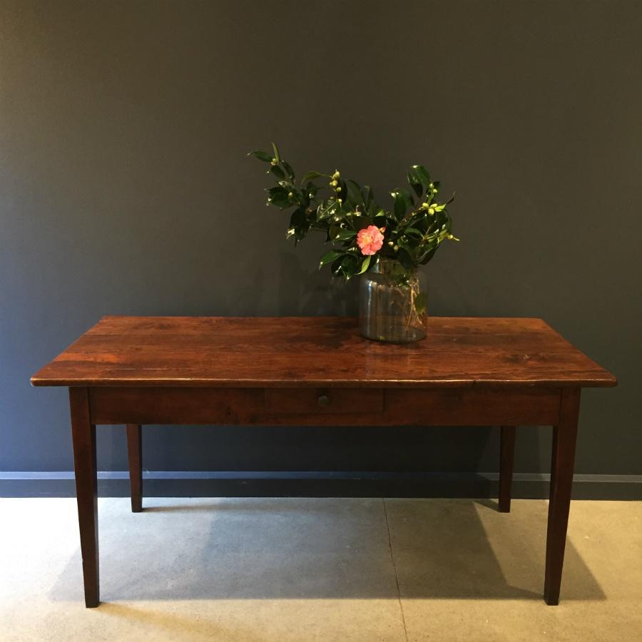 Oak Provincial Table - French Antique c1850