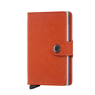 Orange Secrid Mini Crisple Leather Wallet