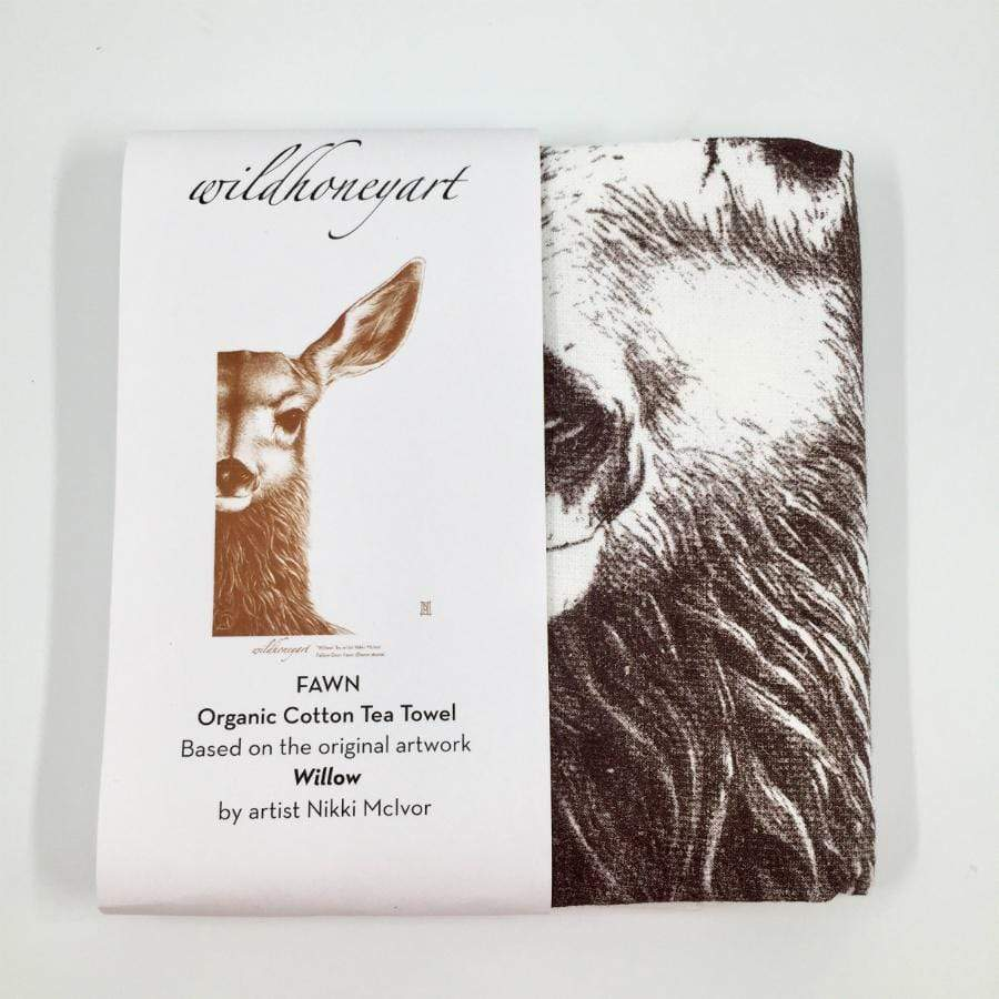 Organic Terry Cotton Tea Towel - The Fawn