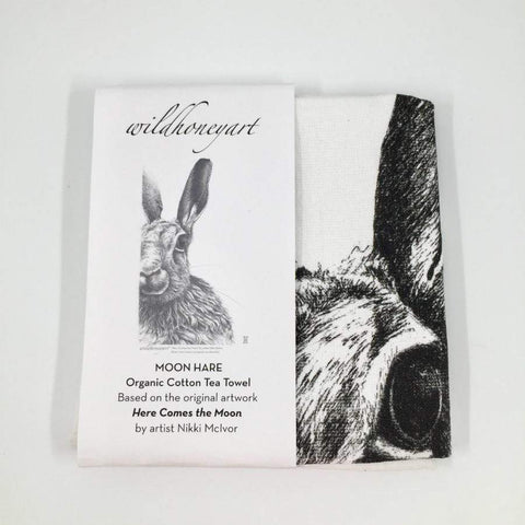 Organic Terry Cotton Teatowel The Hare