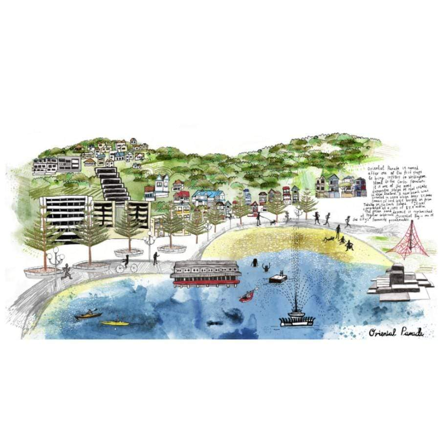Oriental Bay Wellington Print | New Zealand Art