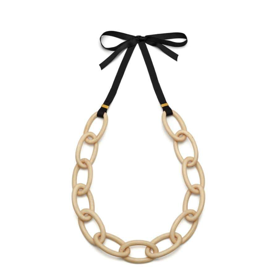 Oval link Necklace | Whitewood/Gold Plated