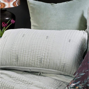 Pale Grey Bianca Lorenne Ricamo Pillowsham
