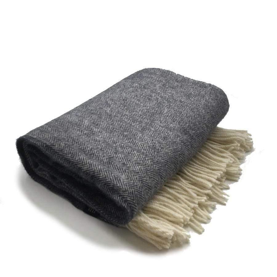 Palliser Ridge Throw-Plain Herringbone-Charcoal