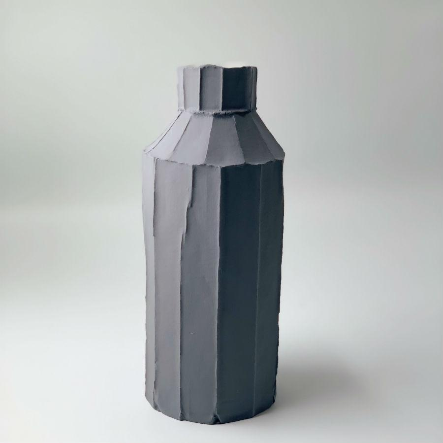 Paola Paronetto Tall Vase Fide Grey