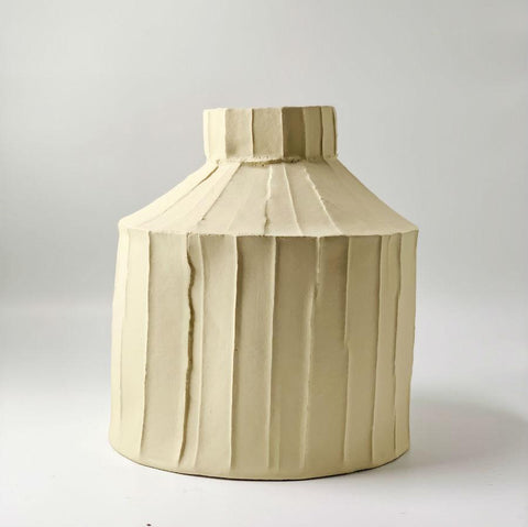 Paola Paronetto Wide Vase Large - Butter