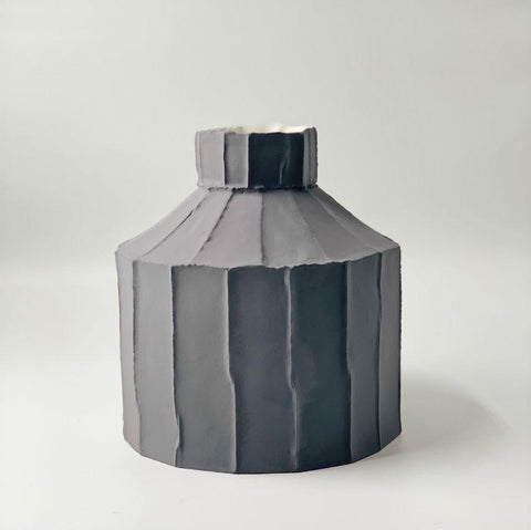 Paola Paronetto Wide Vase Large - Grey