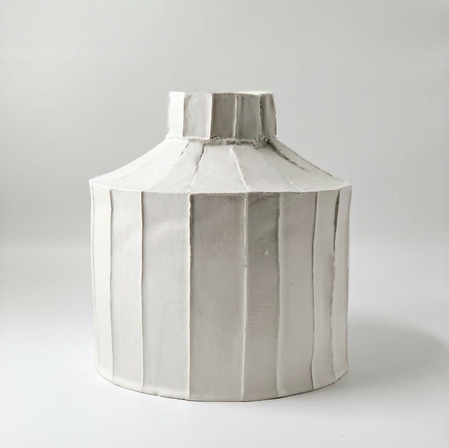 Paola Paronetto Wide Vase Large - White