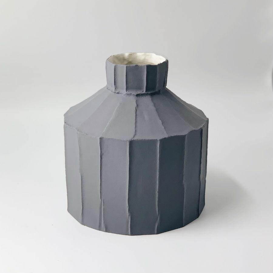 Paola Paronetto Wide Vase Medium - Grey