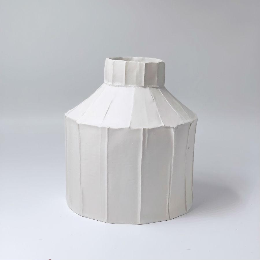 Paola Paronetto Wide Vase Medium White