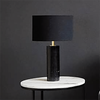Parkville Black Marble Lamp & Shade