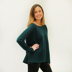 Peacock / Medium Sweater - Baby Yak Wool