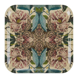 Peonies Birchwood Square Tray