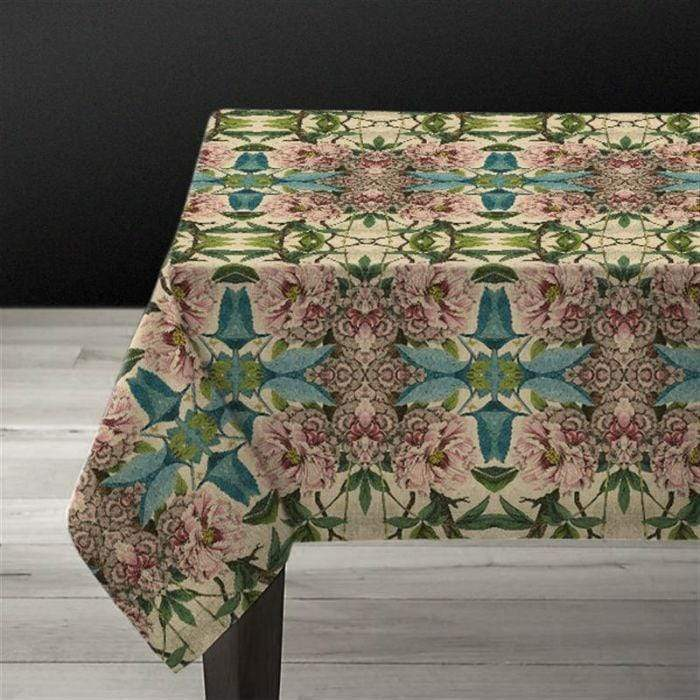 Peonies Linen Tablecloth
