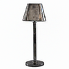 Pewter Style Lamp | Oval Shade