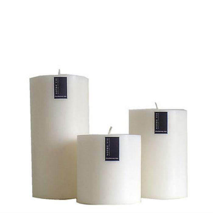 Pillar Candle Medium - Chardonnay Rose
