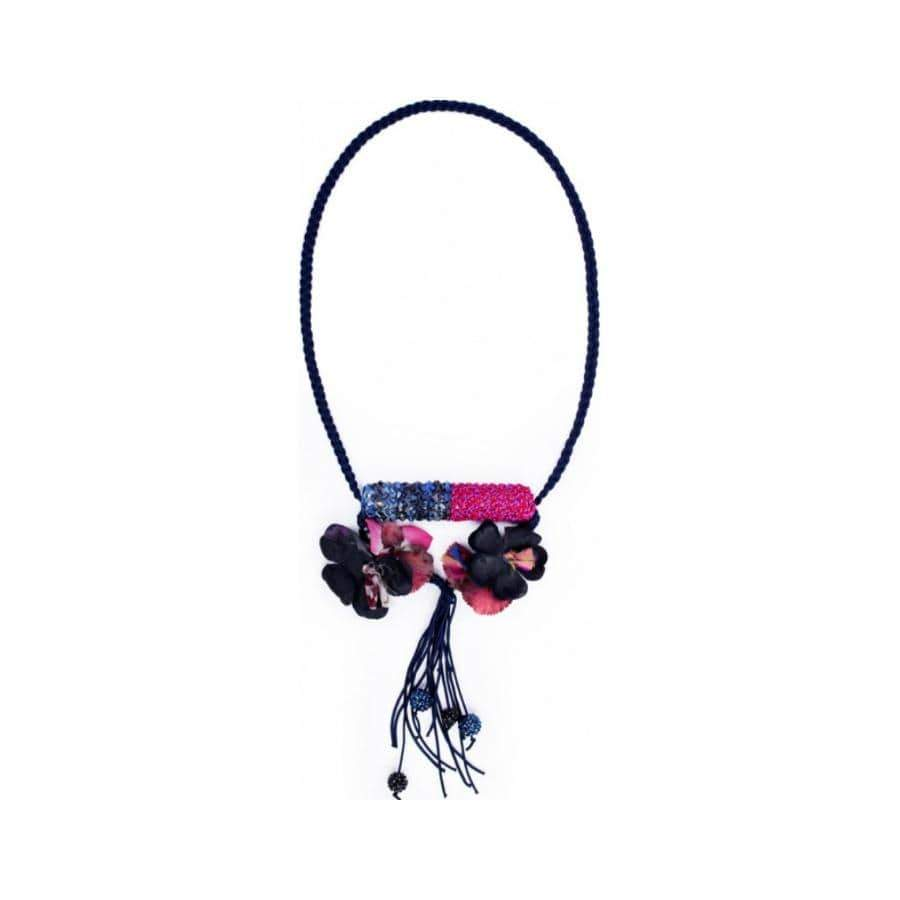 Portuguese Necklace Knited Flowers