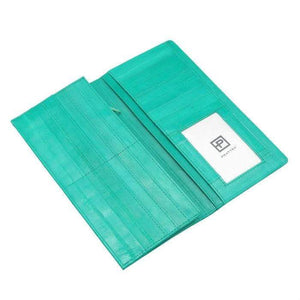 Pratten Eel Skin Wallet Medium Seafoam