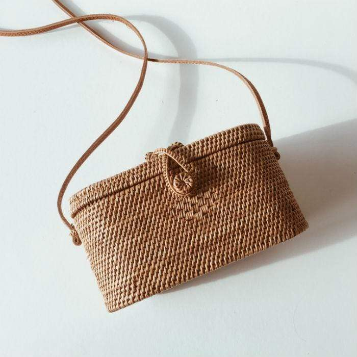 Rattan Rectangle Basket Bag
