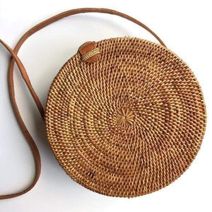 Rattan Round Basket Bag