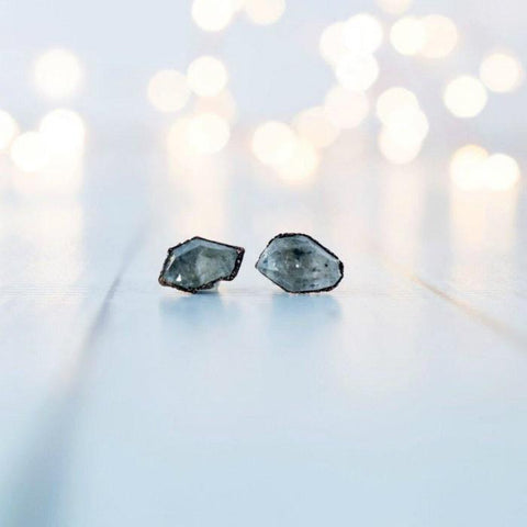 Raw Crystal Studs