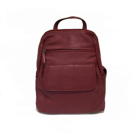 Red Iris Leather Backpack