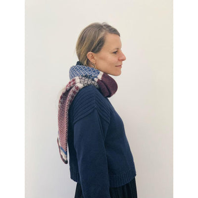 Red Lambswool Glenfinnan Scarf - Red