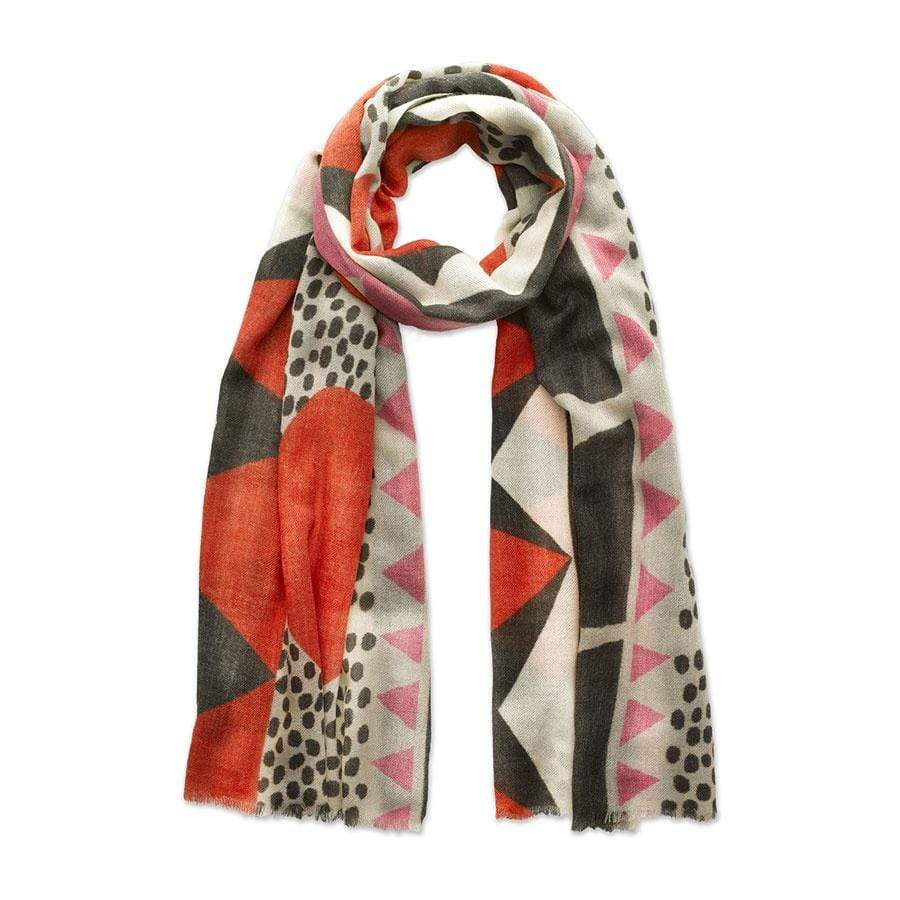Red + Pink Collage Scarf