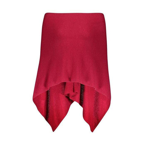 Red Velvet Cashmere Topper