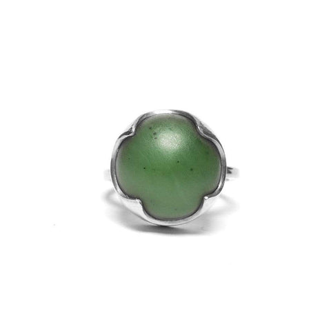 Revolution Ring - Pounamu and Silver