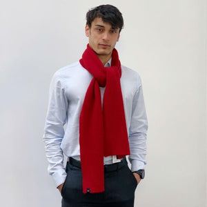 Ribbed Barra Scarf - Garnet