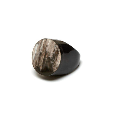Round Horn Ring | Natural