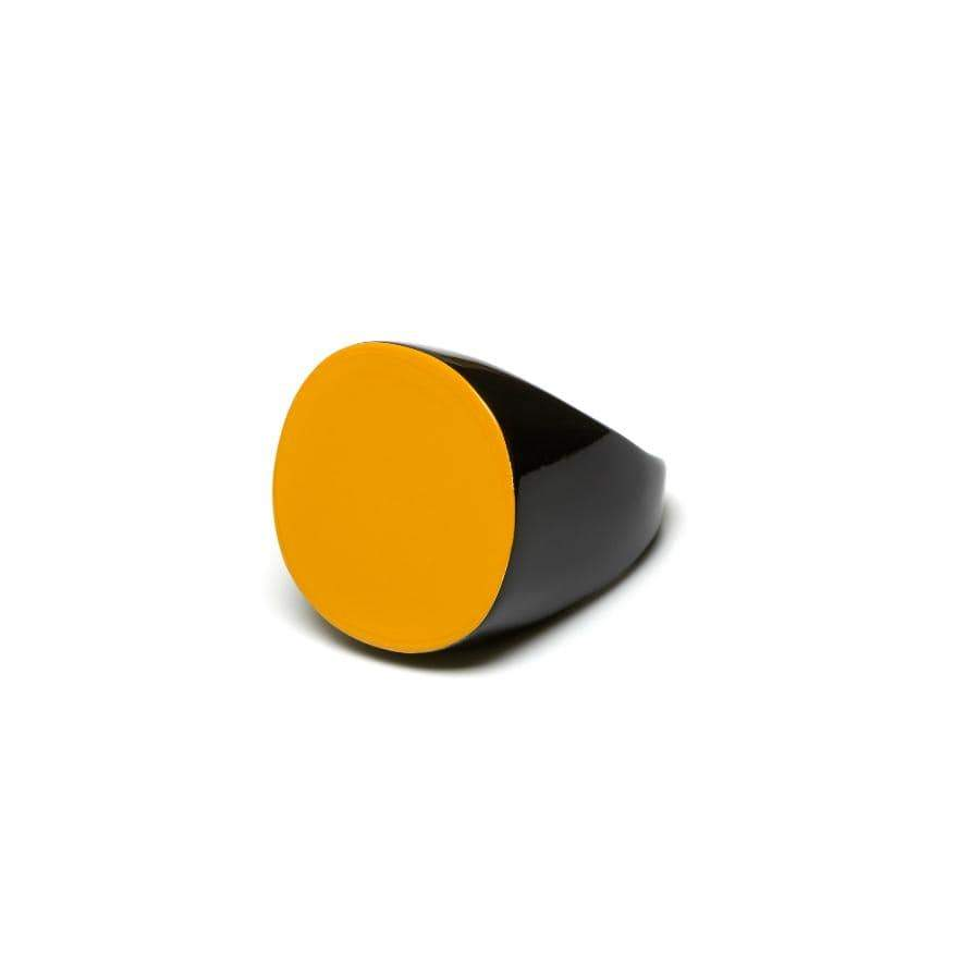 Round Horn Ring | Yellow
