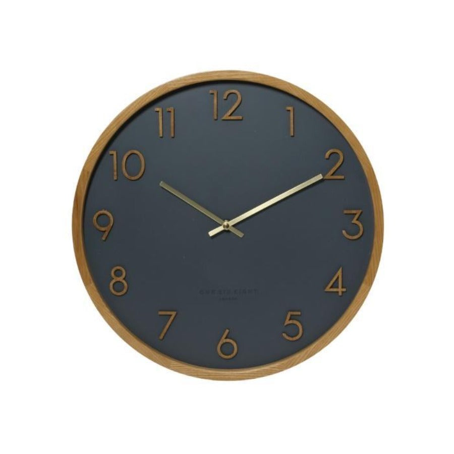 Scarlett Charcoal Wall Clock 35cm