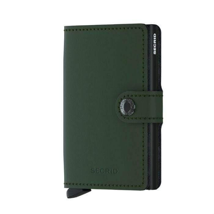 Secrid Matte Leather Mini Wallet | Green